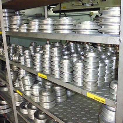 Poleas en fundición de hierro, aluminio y acero